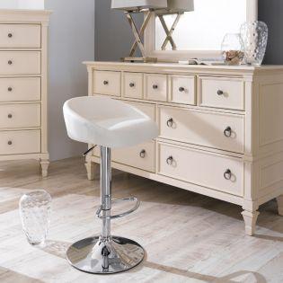 08006-White-Fargo  Adjustable Bar Stool