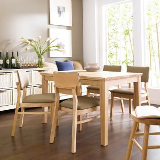 Kathy-4-Natural  Dining Set (1 Table+ 4 Chairs)