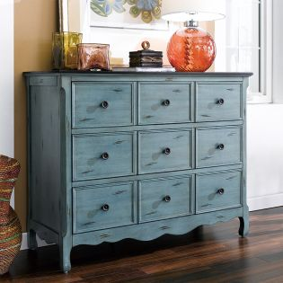 12027-Green  Drawer Chest