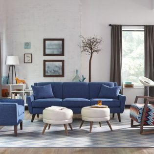 016 Doherty-Blue  Sofa