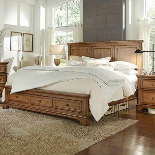 FR-i09 Alder Creek  King Panel Storage Bed ~Storage Drawer~