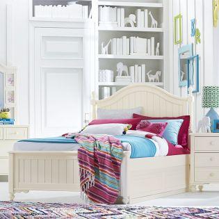 6481-4204K Summerset-Ivory Low Poster Full Bed (침대) (매트 규격: 134cmx 193cm)
