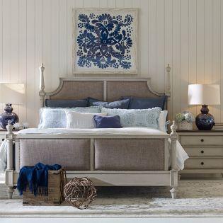 6400-4207K Brookhaven  Queen Upholstered Bed (침대+협탁+화장대)