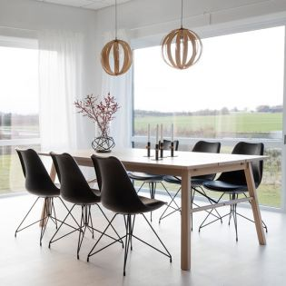 Carver-6C  Dining Set  (1 Table + 6 Chairs)