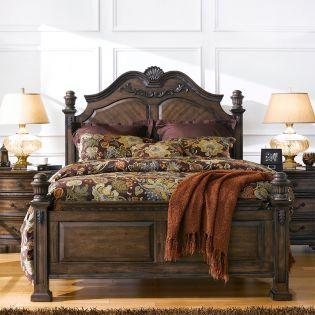 414 Larissa  Queen Panel Bed (침대+협탁+화장대)