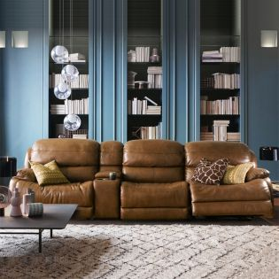 E1425  Power Leather Recliner Sofa