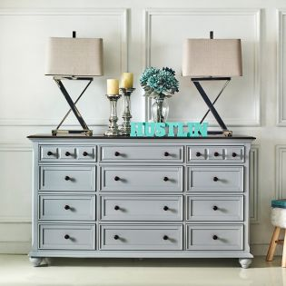 B3944-20-Grey  12-Drawer Dresser ~#1 Selling Item~
