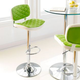 59789-Lime  Alpini Ajustable Bar Stool