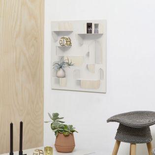 1010218-255   Bend Shelf and Mirror 61-Grey