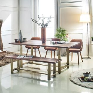 Cameron-6  Dining Set  (1 Table + 3 Chairs + 1 Bench)