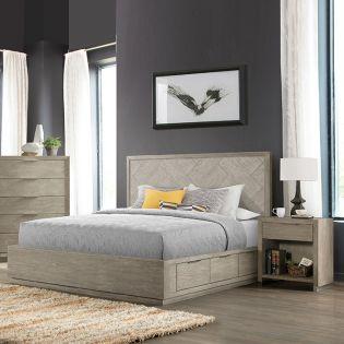 580 ZOEY   Panel Bed (침대+협탁+화장대)