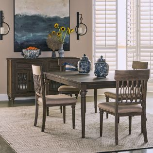 Middleton-4  Dining Set  (1 Table + 4 Chairs)