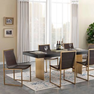 36586 Midas   Dining Set (1 Table + 6 Chairs)