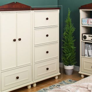 Tara-White-4DR  4-Drawer Chest