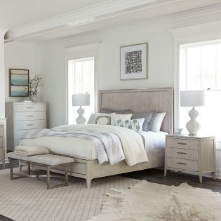 459 Lilly  Queen Panel Bed (침대+협탁+화장대)