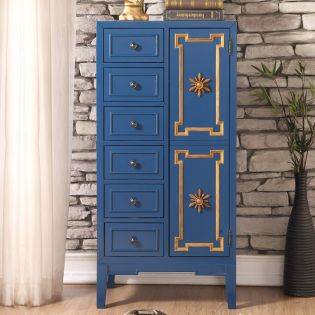 Blue-Closet  Tall Chest