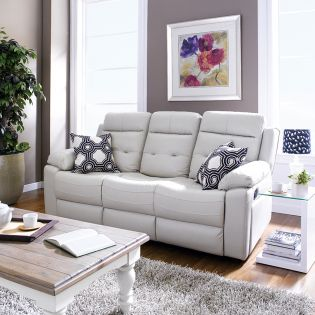 S-1915-3012  Leather Recliner Sofa