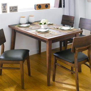 Kathy-4-Wood Walnut  Dining Table